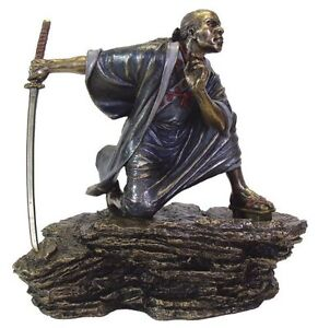 9-Japanese-Samurai-Fighting-Sword-Collectible-Statue-Figurine-Warrior-Oriental