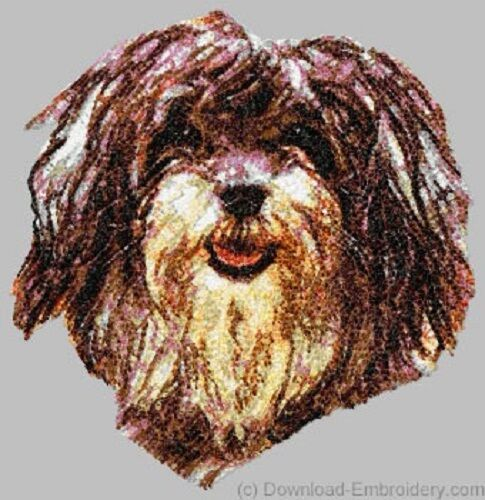 Large Embroidered Zippered Tote - Havanese DLE1552