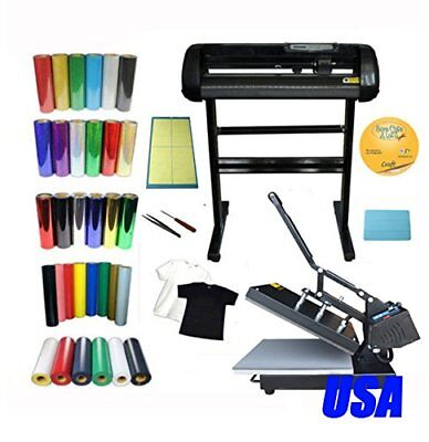 Heat press Vinyl Cutter Plotter Software Vinyl DIY T-shirt by Vinyl Start-up Kit