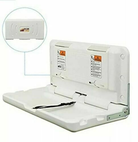 ECR4Kids Horizontal Fold Down Commercial Baby Changing Diaper Station White