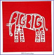 Schablone Elefant