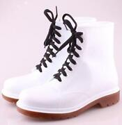 White PVC Boots