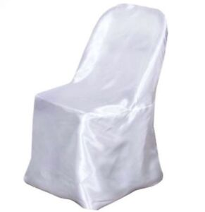 New White Satin Chair Covers 83 Count