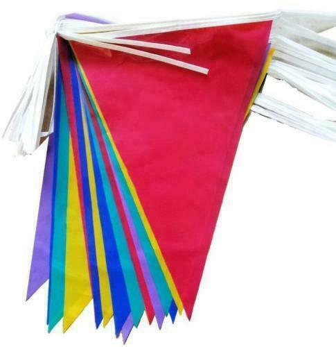 Large+33+Feet+Multi+Colour+Bunting+Flags+Party+PVC+Banner+Garden+indoor%2FOutdoor