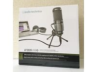 Audio Technica AT-2020 Condenser Microphone USB Wired