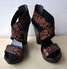 Zip Geometric Shoes for Women