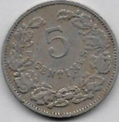 5 Centimes Luxembourg 1908