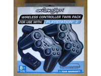 WIRELESS PS2 CONTROLLERS TWIN PACK