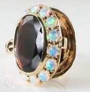 Garnet Opal Gold Ring