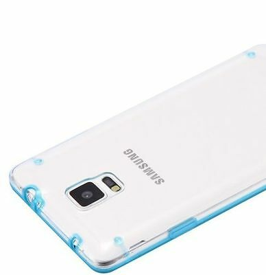 Baby Blue Hard Case (For Samsung Galaxy Note 4 - HARD PREMIUM GUMMY RUBBER SKIN CASE BABY BLUE CLEAR)