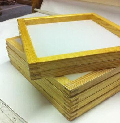 6 Wood Silkscreen Frames 19x 22- 156 Yellowwhite Saati Mesh