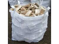 Bulk bags of chunky firewood