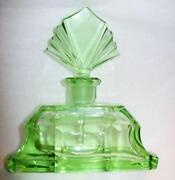Vintage Green Perfume Bottle