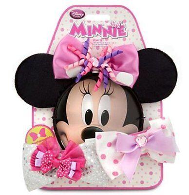 Disney Store Minnie Mouse Ears Boutique Set Interchangleable Bows