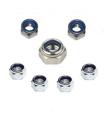 50 Stk. Selbstsichernde Muttern 4 mm DIN 985 M4  Edelstahl A2  - Profi Qualität