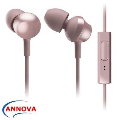Panasonic RP-TCM360 ROSE GOLD In-ear Earphones Headphones w/Remote & Mic