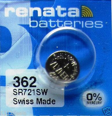 10 Pcs Renata SR721SW Coin Cell Silver Oxide Batteries