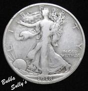 1918 D Walking Liberty Half Dollar