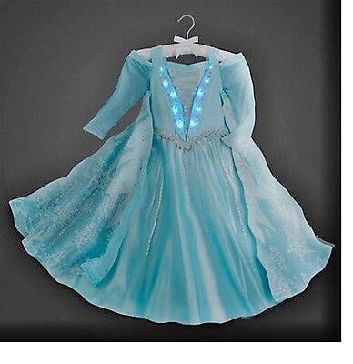 DELUXE $199 NEW DISNEY COSTUME LIGHT UP ELSA FROZEN PRINCESS DRESS Size 10 (Elsa Deluxe Costume)