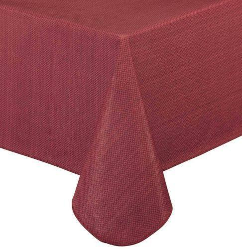 Red Vinyl Table Cloth Ebay