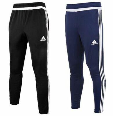 Men's Adidas Tiro Joggers Tracksuit Jogging Bottoms Track Pants Black & Navy