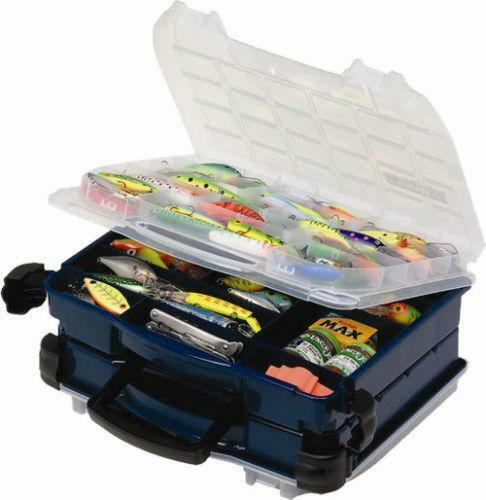 Plano double sided tackle box ebay for Plano fishing tackle boxes
