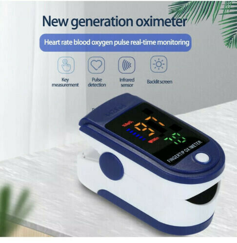 US Stock Fingertip Pulse Oximeter Blood Oxygen Saturation Finger PR Monitor LK87