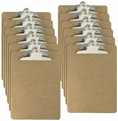 Officemate Letter Size Wood Clipboards 6 Inch Clip 12 Pack Clipboard Brown 8