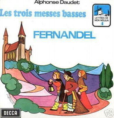 FERNANDEL 45 TOURS BELGIQUE LES 3 MESSES BASSES