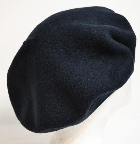 Mens Leather-Trimmed Wool-Blend Beret Off-white VOmxTFU