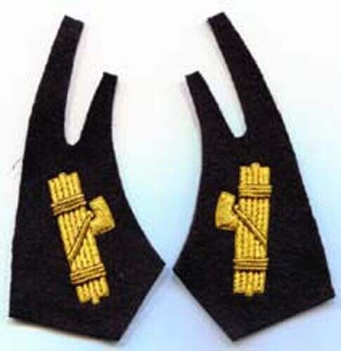 Italian Officers of the Black Shirts Collar Tabs