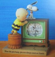 """Peanuts Gallery """"When Life Gets Fuzzy...."""" Water Globe *NEW in b"""
