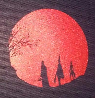 Halloween III - PATCH canvas screen print HORROR - Silver Shamrock Season Witch