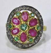 Victorian Emerald Gold Ring