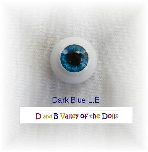 REBORN DOLL Half Rounds 14 mm Real Eyes Dark Blue-REBORN DOLL SUPPLIES
