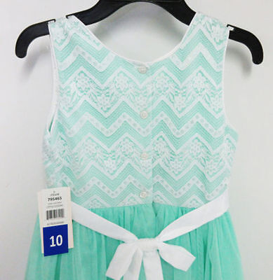 Jona Michelle Mint with Chevron lace Dress Size 10 - New with Tags (Mint Chevron)