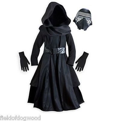 NEW Disney Store Star Wars Force Awakens Kylo Ren Costume 4 5/6 7/8 9/10 kids](Kids Starwars Costumes)