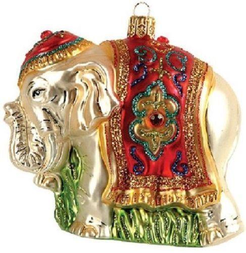 Glass Elephant Ornaments