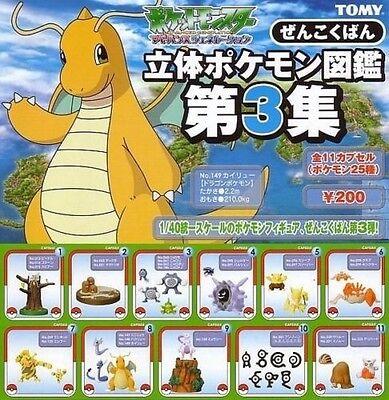 Yujin Tomy Pokemon Zukan Vol.3 Gashapon Figure 30 pcs Full set