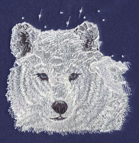 Embroidered Sweatshirt - Winter Wolf M1238