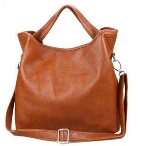 New Brown Leather Hobo Handbag