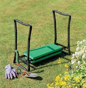 Garden Knee Pad And Stool Seat In One Unit Gardening