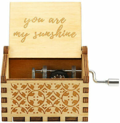 Music Box You are My Sunshine Theme Wooden Classic Music Box Crafts Hand Crank