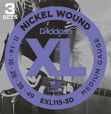 D'Addario EXL115-3D Set  Electric Guitar Strings on Rummage