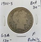 1901 Year Barber Half Dollars (1892-1915)