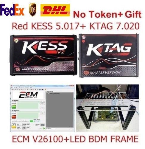 KESS V2 V5.017 V2.23 + KTAG V7.020 V2.23 Red Full Set ECU Online No Token 2019