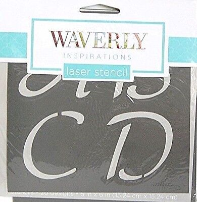 Waverly Inspirations Laser Cut Alphabet Letters Designer Stencils 2 in. x 2 in.