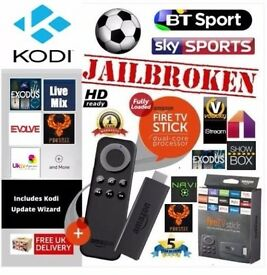 AMAZON TV FIRE STICK FULLY LOADED/MOVIES/SPORTS/KIDS/BOX SETS/TV with latest kodi and mobdro £49.99