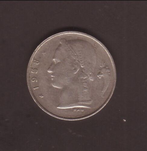 Belgium--1958--1 Franc Coin