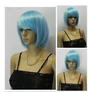 Short Light Blue Wig